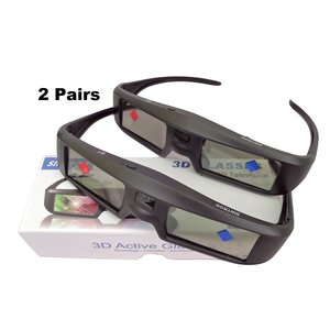 Sintron 3D RF Active Shutter Glasses - 2X USB Rechargeable 3D Glasses Eyewear ST07-BT for 2015 2016 2017 Sony 3D TV & 3D Projector and Panasonic, Samsung 3D TV, Compatible with TDG-BT500A TDG-BT400A TY-ER3D5MA TY-ER3D4MA (2 Pairs)