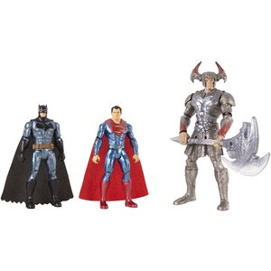 Mattel - DC Justice League - Movie Basis Figuren 3er-Pack (15 cm): Batman, Steppenwolf, Superman (FGG57)