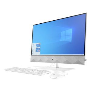 HP Pavilion all-in-one 27-d0600ng / white / i5-10400T (6 core) / 8GB / 256GB SSD + 1 TB HDD / Gef MX350 4GB / 27'' FHD (matt) / Win10Plus Weiß (17020517414)