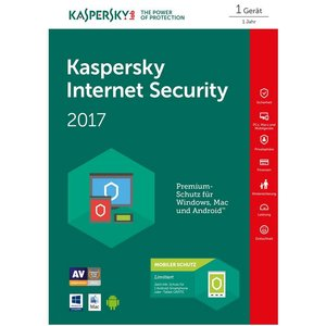 Kaspersky Internet Security 2017 + Android Security PKC FFP (1 Gerät, 1 Jahr) (PC)