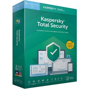 Kaspersky Total Security 2019 PKC (3 User, 1 Jahr) (PC, MAC, Mobile)