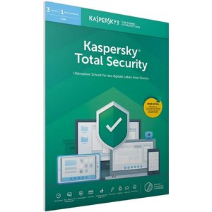 Kaspersky Total Security 2019 PKC FFP (3 User, 1 Jahr) (PC, MAC, Mobile)