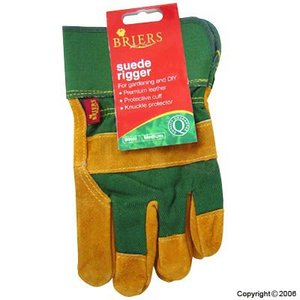 Briers Suede Rigger Glove Green Extra Large