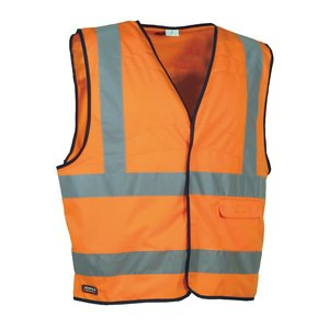 Cofra Warnweste Clear V073-1 Warnschutz Weste in Signalfarbe, orange, 40-00V07301-XXXL