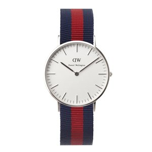 Daniel Wellington Damen-Armbanduhr Oxford Analog Quarz Nylon DW00100046