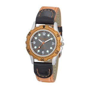 Eichmüller 2021/04 Taucherlook Kinderuhr schwarz-orange