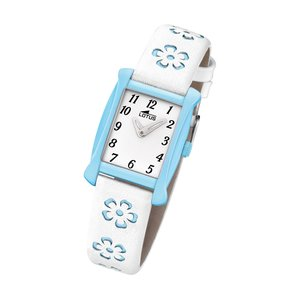 Lotus Kinderuhr Blumen Junior Collection weiß blau L18255/3