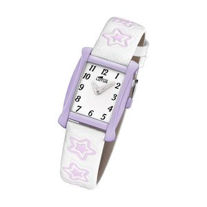 Lotus Kinderuhr Sterne Junior Collection weiß lila L18256/4