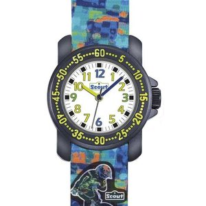 Scout Action Boys Jungenuhr 376034 - Textilband - 30 mm