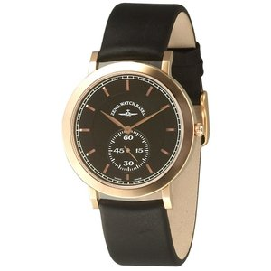 Zeno-Watch Herrenuhr - Flatline Flat 2 Quartz gold plated - 6703Q-Pgr-f1