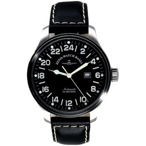 Zeno-Watch Herrenuhr - Oversized Pilot 24 hours - 8563-24-a1