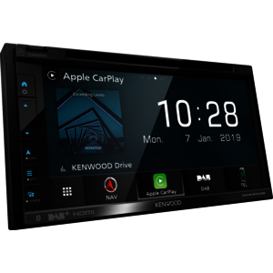 Kenwood DNX5190DABS Navigationssystem 17,1 cm (6.75'') Touchscreen TFT Fixed Schwarz 2,1 kg
