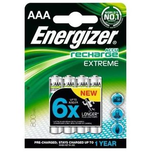 Energizer Accu Recharge Extreme 4 x AAA