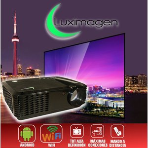 Luximagen HD700 Projektor mit WLAN, Android, TDT, USB, HDMI, AC3