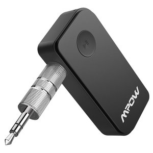 Mpow Bluetooth 4.1 Empfänger Drahtlos Bluetooth Receiver Tragbare Bluetooth Adapter Audiogeräte für KFZ Auto Lautsprechersystem mit Stereo 3.5 mm Aux Input- Schwarz