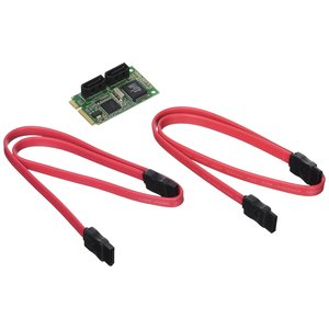 Cablematic Adapter Mini PCIe SATA2 2-Port-Winkel