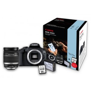 Canon EOS 2000D Kit schwarz inkl. EF-S 18-200mm IS Peter Hadley Special