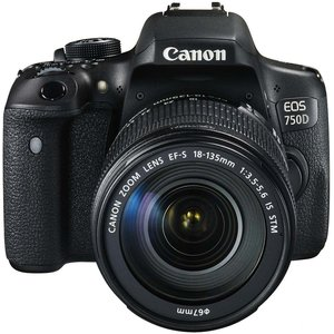Canon EOS 750D Kit schwarz inkl. EF-S 18-135mm IS STM