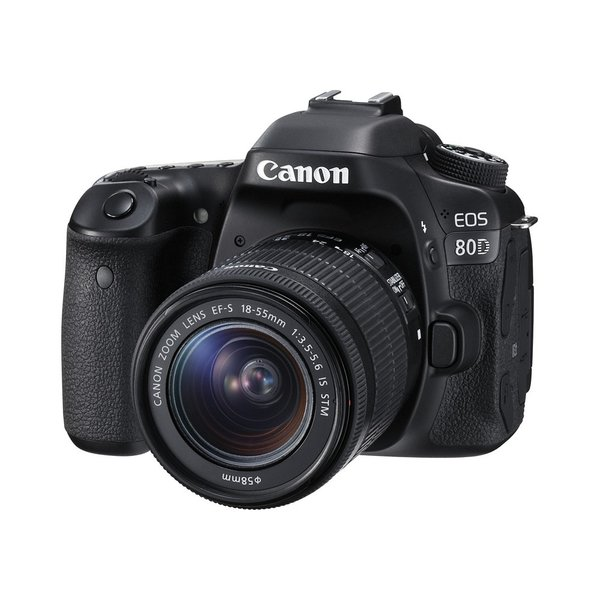Canon EOS 80D Kit schwarz inkl. EF-S 18-55mm IS STM