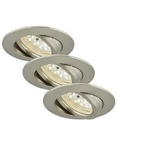 Briloner LED Einbauleuchte Attach 3er Set matt-nickel