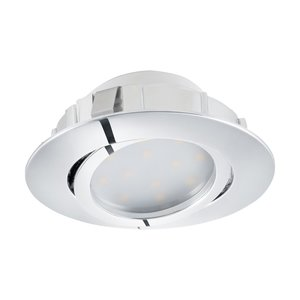 Eglo PINEDA LED Einbauspot d=84, 1-flg., chrom