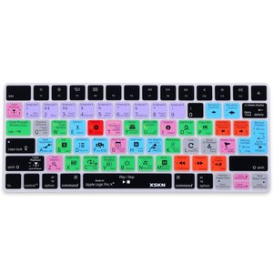 XSKN Apple Magic Keyboard Cover Logic Pro X Englisch Shortcuts Tastatur Haut, Funktionales Hotkeys Schutzfolie für Magic Tastatur mla22b/A