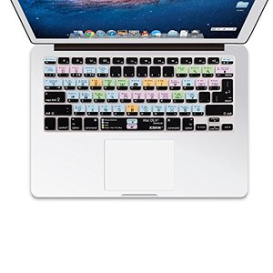 XSKN OS X Shortcuts Tastatur Haut Cover für 33 cm 38,1 cm 43,2 cm MacBook, MacBook Pro, MacBook Air uns eu Version
