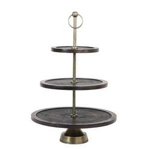 Light and Living KAMUDI Etagere 3 Schichten Antik bronze 45x67 cm bronze