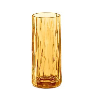 Koziol Club No. 3 Longdrink Glas, Kunststoff, Transparent Amber, 250 ml, 3403651