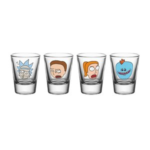 Rick and Morty Schnapsgläser- set Charaktere
