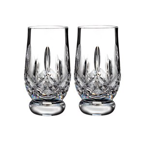 Waterford Tasting Footed Tumbler 7oz Paar Lismore Connoisseur Collecti