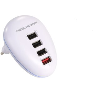 RealPower 4-Port USB Wall Charger