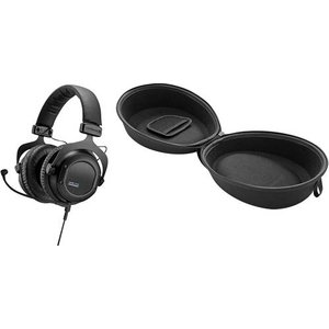 Beyerdynamic Gaming Headset 3.5mm Klinke schnurgebunden Custom Game + 718971 DT Hardcase Over Ear Schwarz