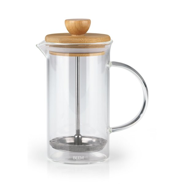 BEEM Coffee Press Kaffeebereiter - 0,35 L 2 Tassen French Press Bambus