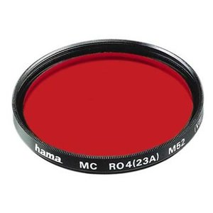Hama 77672 Color Infrarot S/W-Filter Rot R 8 25A (72,0 mm)