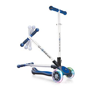 Authentic Sports - Globber MY Free Fold UP mit Leuchtrollen / ELITE SL, blau/grau