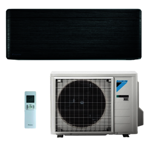 Daikin Klimaanlage R32 Stylish 3,4 kW SET Schwarzholz (FTXA35AT-RXA35A-SET)