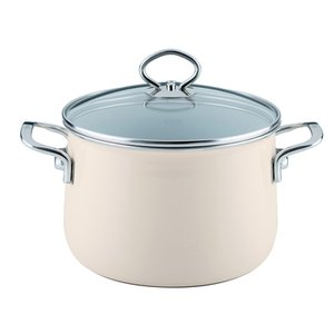 Riess Emaille Fleischtopf 20 cm 4 l Nouvelle Avorio Top 3000