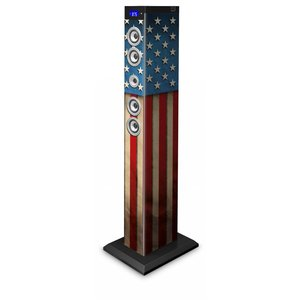 BigBen Sound Tower TW9 | USA | 60 Watt RMS | Equalizer LEDs | Bluetooth, Aux-IN, SD, UKW