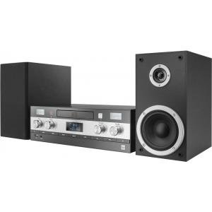 Dual DAB-MS 130 CD Stereoanlage (DAB(+)--UKW-Tuner, CD-Player, Musikstreaming via Bluetooth, USB-Anschluss, AUX-IN-Anschluss, Fernbedienung) Schwarz