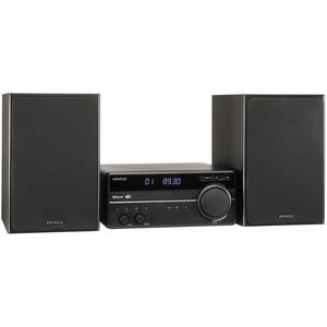 Kenwood M-819DAB DAB+ Micro HiFi-System (DAB+, UKW, CD, USB, Bluetooth Audio-Streaming, Line-In, Kopfhöreranschluss)