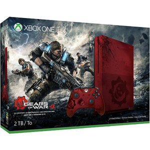 Microsoft Xbox One S Gears of War 4 Limited Edition Rot 2TB Bundle inkl. Gears of War 4 (USK 18)