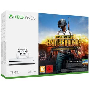 Microsoft Xbox One S Robot White 1TB Bundle inkl. Playerunknown's Battlegrounds (USK 18)