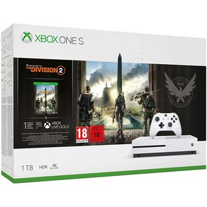 Microsoft Xbox One S Robot White 1TB Bundle inkl. The Division 2 (USK 18)