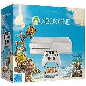 Microsoft Xbox One Robot White 500GB Bundle inkl. Sunset Overdrive