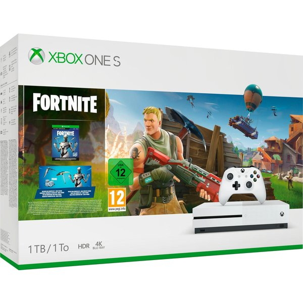 Microsoft Xbox One S Fortnite Bundle Robot White 1TB Bundle inkl. Fortnite + 2.000 V-Bucks
