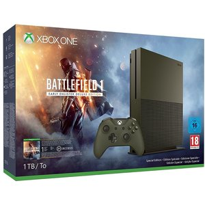 Microsoft Xbox One S Military Green 1TB Bundle inkl. Battlefield 1