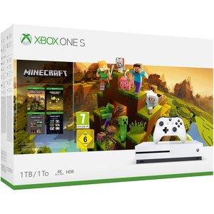 Microsoft Xbox One S Minecraft Creators Bundle Robot White 1TB Bundle inkl. Minecraft Master Collection