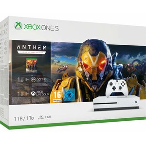 Microsoft Xbox One S Robot White 1TB Bundle inkl. Anthem
