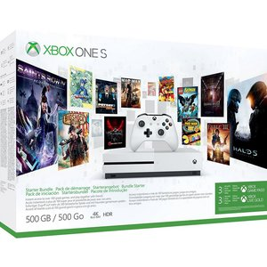 Microsoft Xbox One S Robot White 500GB Bundle inkl. 3 Monate Game Pass